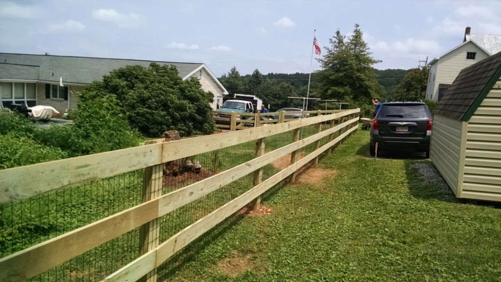 Wood Rail Fencing Snyders Custom Fencing