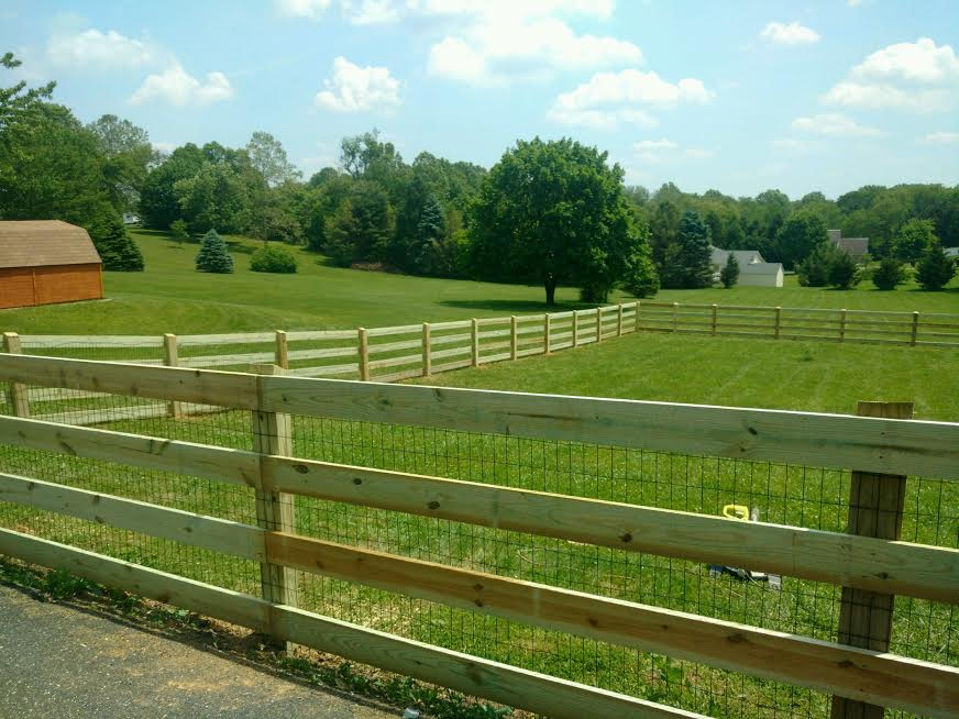 Wood Rail Fencing - Snyders Custom Fencing