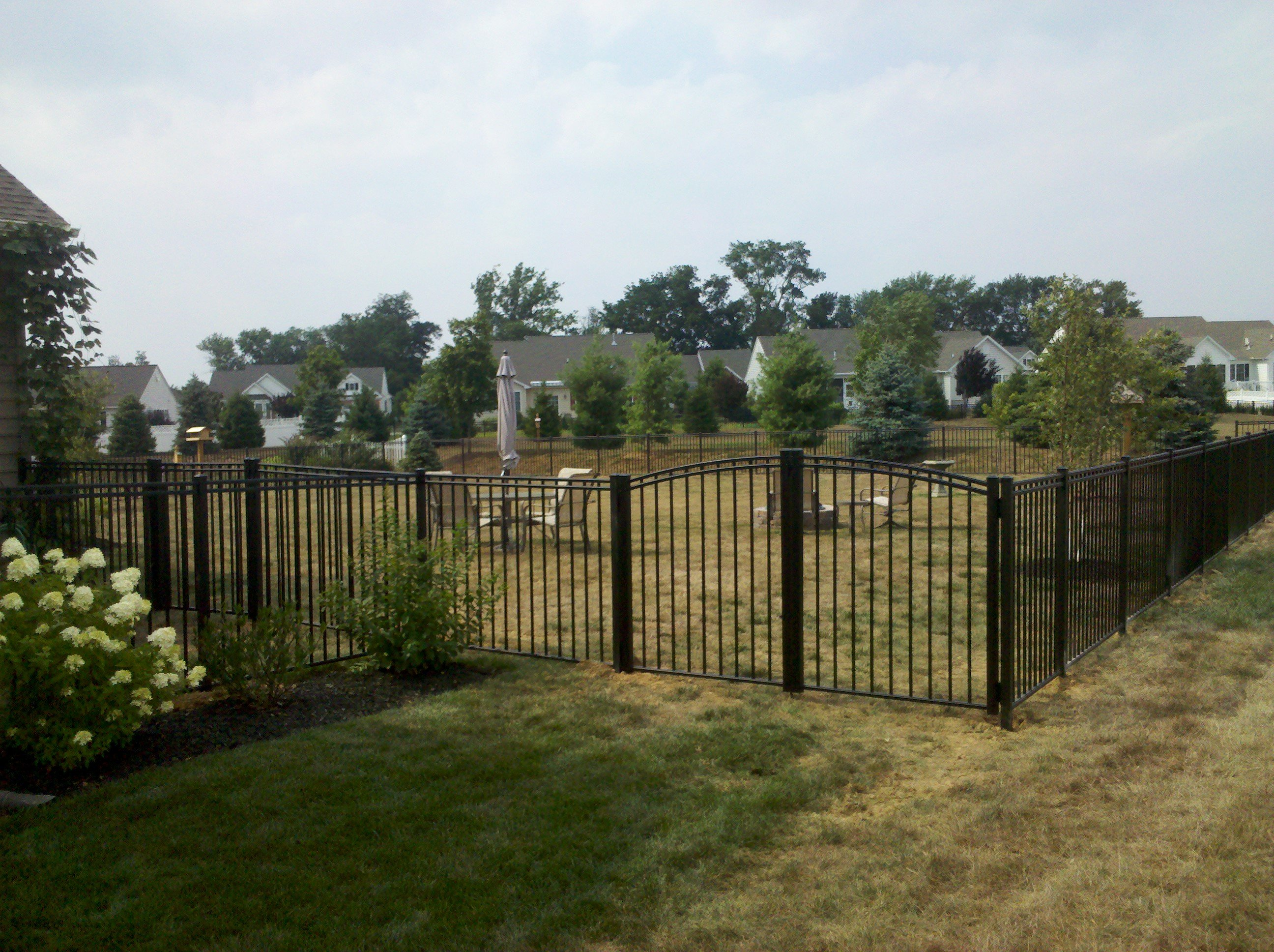 picket fence double gate. Aluminum UAB 200 With Double Arched Gate (2) Picket Fence